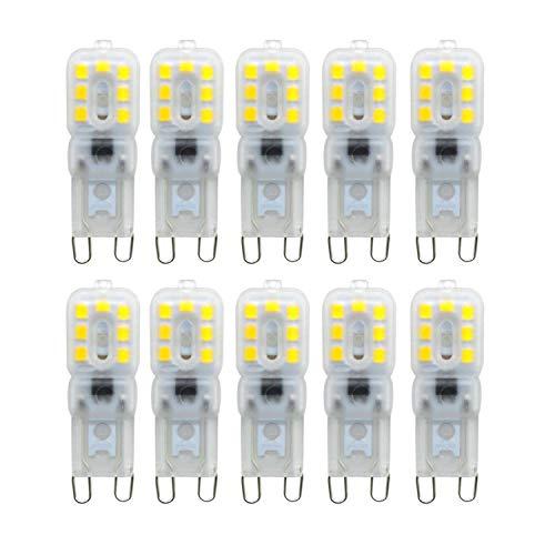 G9 led, Vaxiuja Double Needle Base 2835SMD 14LED Dimmerabile 3W Equivalente Sostituzione 30W Lampada alogena per camera da letto Illuminazione domestica Ristorante AC 220-240V (Bianco caldo)