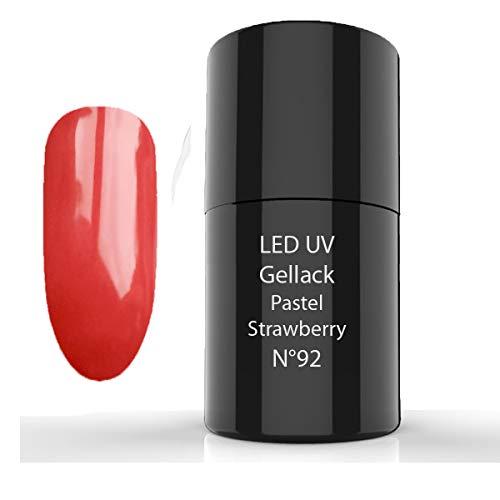 LED de UV gellack, Hybrid Polish, 92 Pastel Strawberry - Esmaltes de Uñas, Esmaltes en Gel Uñas UV LED, Esmaltes Semipermanentes para Uñas - Pintauñas para Manucira Profesional
