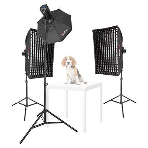 Pixapro Lumi II 200 driekops huisdier portretfotografie set verlichten licht licht studio fotografie UK garantie Britse goederen BTW geregistreerd