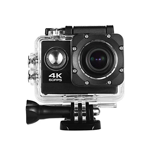 Andoer Sports Action Camera 4K 60FPS with 2-inch HD Screen Underwater 30m Waterproof Shell 170 Degree Wide Angle Support Extended Memory