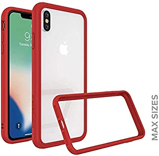 RhinoShield Ultra Protective Bumper Case for [ iPhone Xs Max ] CrashGuard NX, Military Grade Drop Protection for Full Impact, Slim, Scratch Resistant, Red