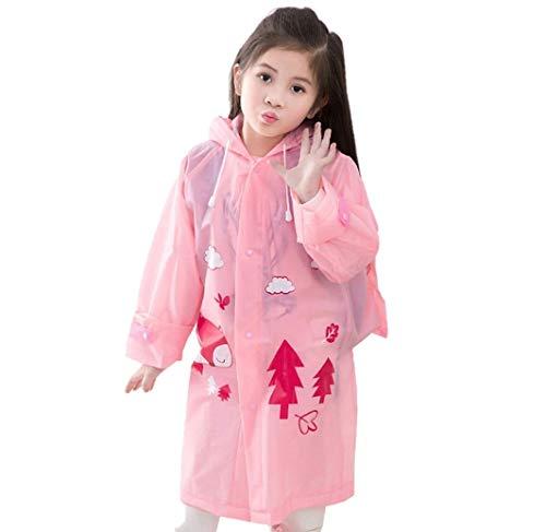 Kavish Kids Girls and Boys, Rainwear Cartoon Printed Waterproof Hood Jacket for School Outdoors (1 Piece) (4-5 Years)