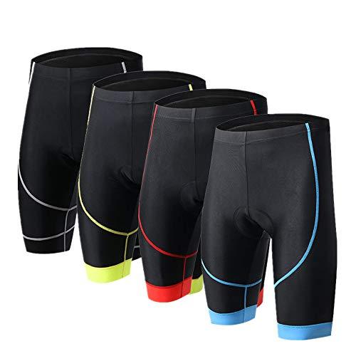 Lisansang Mountainbike-Shorts für Herren, Radfahren, Radsport, halbe Hose, 4D Coolmax gepolstert für Sport und Outdoor-Radsport, Polyester und Spandex, blau, M