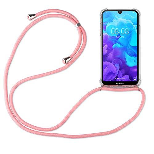 betterfon | Huawei Y5 2019 Handykette Smartphone Halskette Hülle mit Band - Schnur mit Hülle zum umhängen Handyhülle mit Kordel zum Umhängen für Huawei Y5 2019 Rosa
