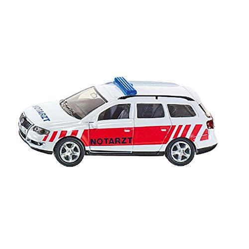 Siku 1461, Notarzt Einsatzfahrzeug, Metall/Kunststoff, weiß/rot, Öffenbare Türen