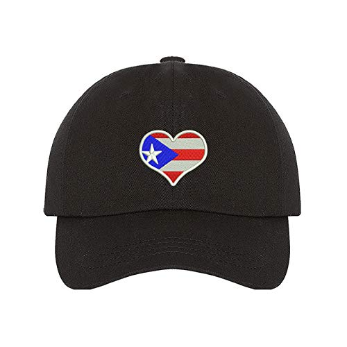 PRFCTO Puerto Rico Flag Heart Unisex Baseball Hat -