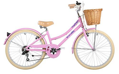 Emmelle Girls' Snapdragon 24' Bicycle, Pink/Biscuit
