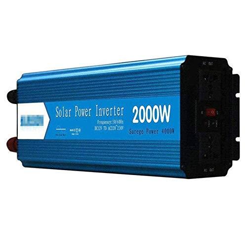 Inversor de alimentación Onda sinusoidal pura 300W / 500W / 600W / 800W / 1000W / 1500W / 2000W / 2500W / 3000W 12V 24V DC a 110V 220V CA Converter -2 Outlets de CA Inversor de coche con pantalla digi