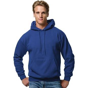 Hanes Men s Pullover EcoSmart Hooded Sweatshirt Deep Royal Medium