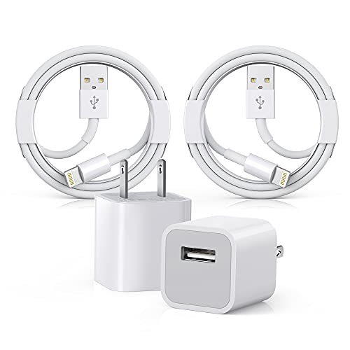 [Apple MFi Certified] iPhone Charger, Apple iPhone Charger to USB Fast Charging Data Sync Transfer Cable with USB Wall Charger Travel Plug Compatible iPhone 12/11/11 Pro/Xs/XR/X/8/8Plus and More