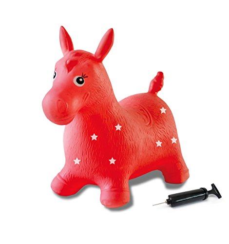 Jamara 460317 - Caballo rojo animal saltarín con bomba - Orejas como...