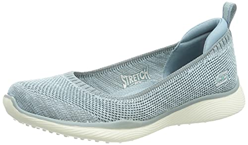 Skechers Microburst 2.0 BE Iconic, Zapatos Planos Mary Jane Mujer, Blue, 36 EU