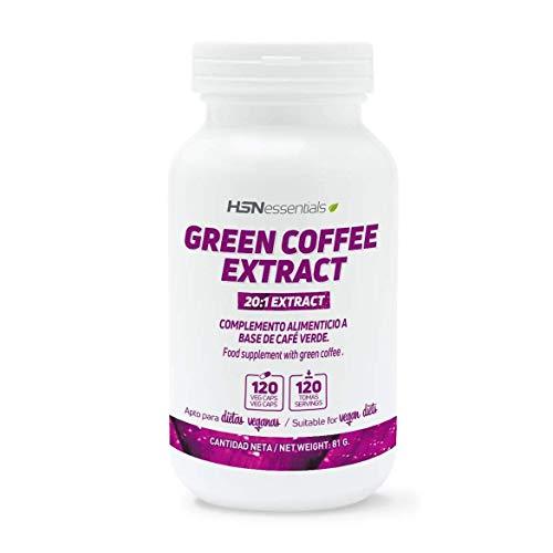 Café Verde de HSN   500mg   Suministro para 2 Meses   Extracto de Coffea Arabica   Con Ácido Clorogénico + Cafeína   Quemagrasas Natural   Vegano, Sin Gluten, Sin Lactosa, 120 Cápsulas Vegetales