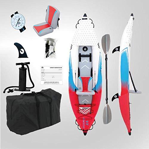 Kayak Hinchable Inflable Kayaks Y Remos Para 2 Personas Individuales Bote Inflable Canoa A La Deriva Bote Sentado En La Parte Superior Kayak,C