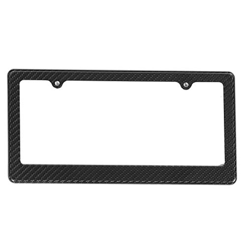 zhuolong Universal Real Carbon Fiber License Plate Frame Cover Short Holders Fit for Honda Civic