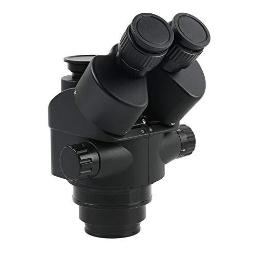 outingStarcase Negro 7x-45x 3.5x-90x Microscopio trinocopio de Focal Simul Zoom Cabezal de microscopio estéreo + 0.5X 2.0X Lente Auxiliar (Color : 7X 45x)