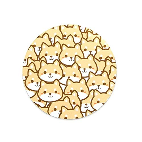 Computergefülltes rutschfestes Gummi-Cartoon-Mauspad - Brown, a1