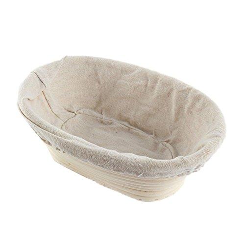 ESHOO Oval Dough Banneton Brotform Dough Rattan Bread Proofing Proving Baskets