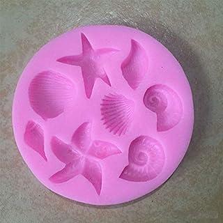 jingyuu Serie Océano 3D de silicona torta de la pasta de chocolate Moldes Decoración Fimo arcilla