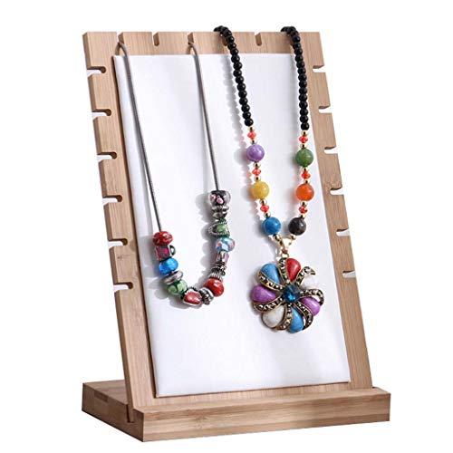 estante joyería Collar de la joyería moderna mesa Paneles de visualización, demostración de la joyería de madera sólida del estante de exhibición del soporte del sostenedor del organizador Stand de es