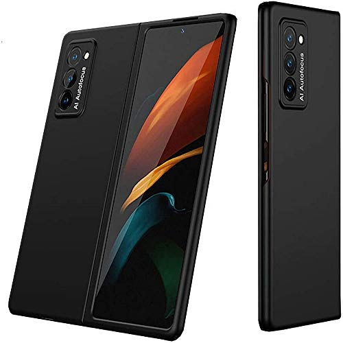 2pcs 360-degree Protection with Elegant Appearance,Anti-fingerprint and Ultra Thin For Samsung Galaxy Z Fold 2 5G Shockproof 2nd Generation Case Cover (Cool Black)