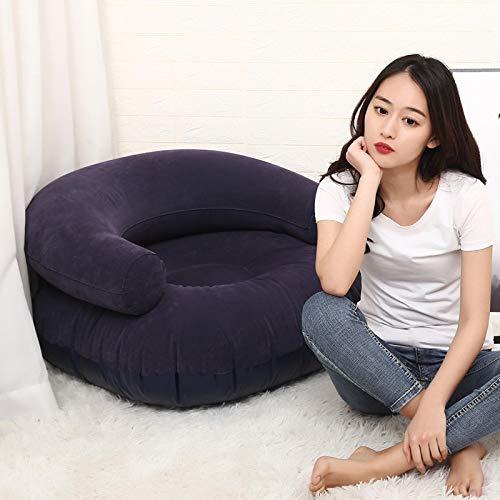 Aufblasbares Sofa Aufblasbare Air Liege faul Couch Stuhl Sofa Taschen Outdoor Party Camping Reise PVC Flocking Sofa zusammenklappbar Darkgray