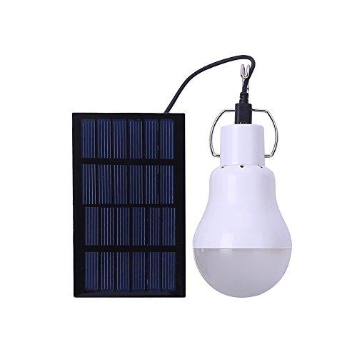 Saiko tragbare Lämpchen Licht Birne Solarleuchten Lampe LED Solar Glühbirne Solarlampen für außen Innen Camping Wandern Zelt Angeln Schuppen Beleuchtung Home Emergency Light 110 Lumen 800mA