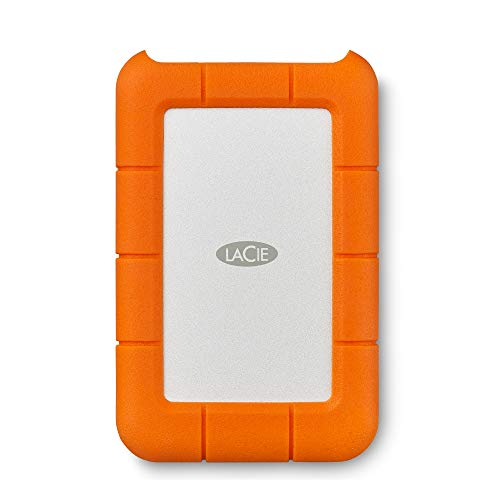 LaCie (LAC9000633) Rugged Mini 4TB External Hard Drive Portable HDD – USB 3.0 USB 2.0 Compatible, Drop Shock Dust Rain Resistant Shuttle Drive, For Mac And PC Computer Desktop and Laptop