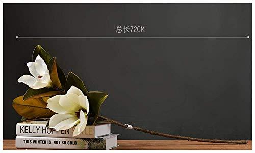 WES Simulacion de flores decorativas artificiales Magnolia Decoracion de flores falsas individuales Florero Arreglo floral Mesa de comedor Armario de television Mesa de centro Arreglo floral Flores
