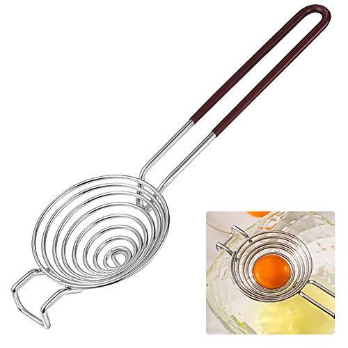 Separador de clara de huevo y yema de huevo-Extractor de clara de huevo-Acero inoxidable 304-Filtro de yema de huevo y clara de huevo-Clasificadora de huevos-Ayudas de cocina-Herramientas para hornear