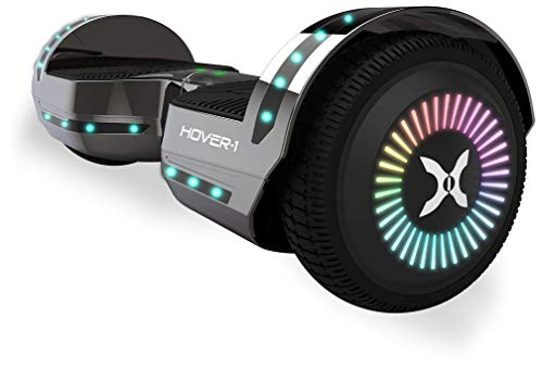 Hover-1 Chrome 2.0 Hoverboard Electric Scooter, Gun Metal, 26 x 9.8 x 10