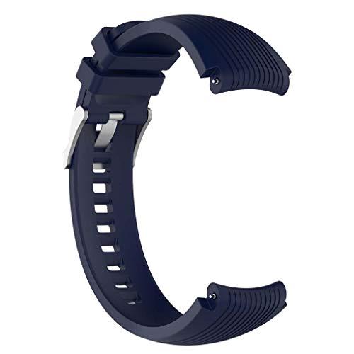 Sweo Correa de reloj de silicona, 22 mm, para Samsung Ga Laxy Watch 46 mm, Gear S3 Frontier/Classic Gear 2 R380