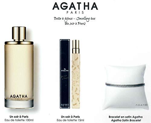 AGATHA Coffret boite a bijoux Un soir à Paris Eau de Toilette 100 ml + Eau de toilette 15 ml + Bracelet en satin AGATHA