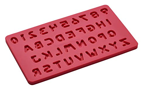 Lurch FlexiForm decoratieve vorm letters en cijfers Cotton Candy, silicone, rood, 20 x 11,5 x 1 cm