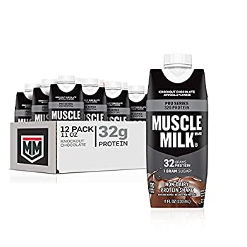 Muscle Milk Pro Series Protein Shake Knockout Chocolate 32g Protein 11 Fl Oz  Pack of 12