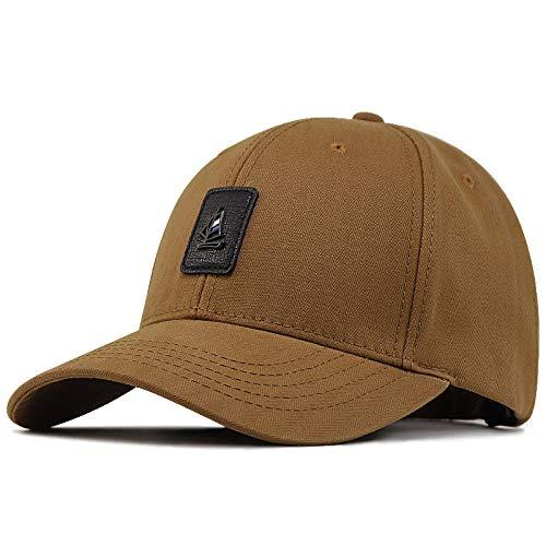 Casquette Homme Big Head Plus Size Men Hat Cap Male Outdoor Peach Sun Hat Men Plus Size Baseball Caps-Khaki_56-60Cm