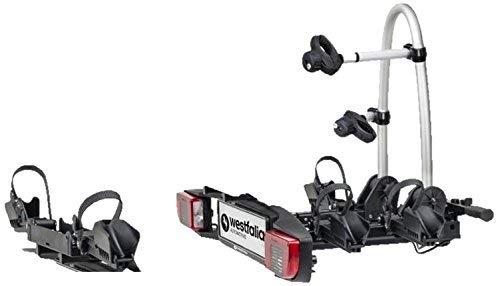 Westfalia BC 60 (Modell 2018) Fahrradträger für Anhängerkupplung inkl. Erweiterungssatz für 3. Fahrrad - Zusammenklappbarer Kupplungsträger - Universal-Radträger mit 60 kg Zuladung