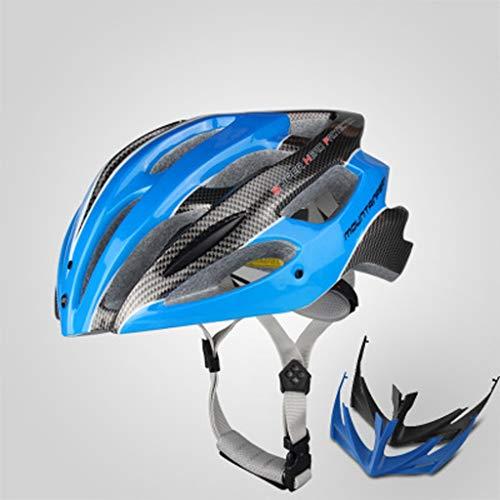 JM- Fahrradhelm Männer und Frauen Fahrradhelm Mountainbike-Ausrüstung integriert großen Straßenschutz Hut (Color : B, Size : L)