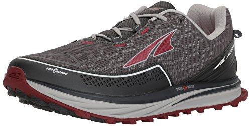 ALTRA TIMP IQ Trail Runner para hombre, gris (Carbón/rojo), 42 EU