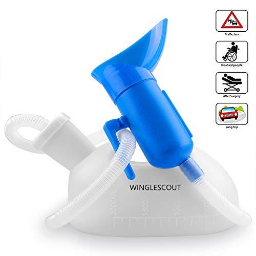 Urinflasche für Frauen,CELLSTAR 2000ML Urinal Flasche Hohe Kapazität Urinflasche für Männer und Frauen mit 1.3M Schlauch