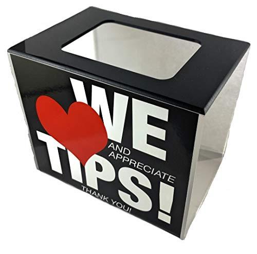 BB INC Tip Box Tip Jar Acrylic Money Storage Container