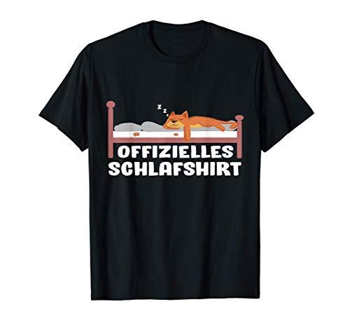 Schlafshirt Pyjama Schlafanzug Nachthemd Katze Geschenk T-Shirt