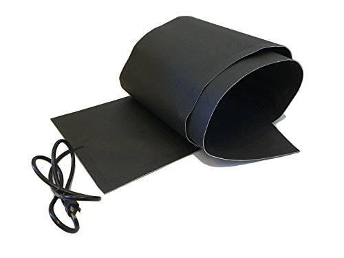 RHS Snow Melting System, Roof and Valley Heater, Ice and Snow Melting Mats, Sizes 5  feet x 13  inches, Color Black, 5 ft. mat Melts 2  inches of Snow per Hour, Buy Factory Direct, (5  ft. x 13  in.)