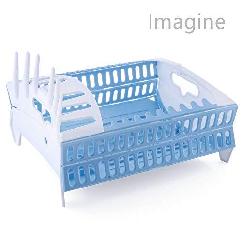 IMAGINE Multifunctionele Kunststof Opvouwbare Afdruiprek, Keukenafvoerrek Roze Blauw Groen