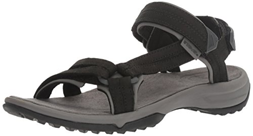 Teva Terra Fi Lite Leather W's Damen Sport- & Outdoor Sandalen, Schwarz (black 513), EU 41