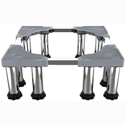 Base del frigorífico Lavadora Base Nevera Soporte Anti vibración Mute Ajustable Longitud/Ancho 42-66CM Drino Antideslizante Secador de Tambor Básica Universal High Rack 23-27cm Exterior Planta Conte