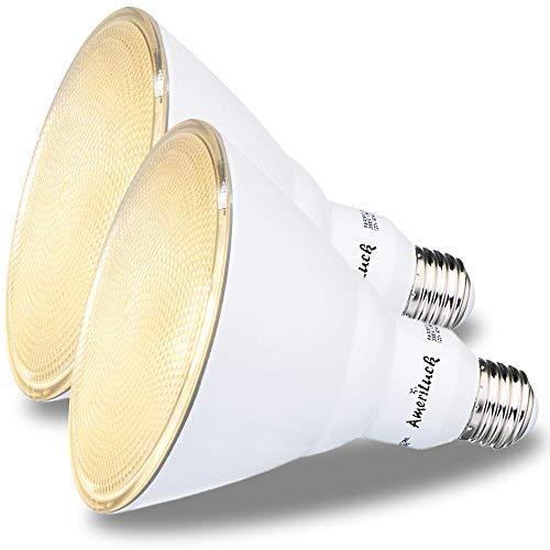 AmeriLuck 150W Equivalent PAR38 LED Outdoor Flood Light Bulb, 16W Dimmable (3000K Warm White, 2 Pack)