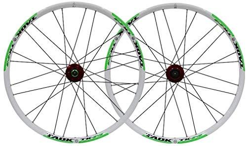 Ruedas Bicicleta llantas MTB Moto sistema de rueda de 24' neumáticos de las ruedas MTB de doble pared de llantas de aluminio 1,5-2,1' 24H freno de disco 7-11 velocidad Palin eje del lanzamiento rápido