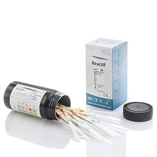 Reactif Gesundheitstest: Urinanalyse 5 Parameter - 100 Urin Teststreifen | Schnelltest | Diagnostik Urinwerte