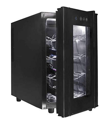 Lacor - 69178 - Armario refrigerador 8 Botellas Black Line 50w 23Litros